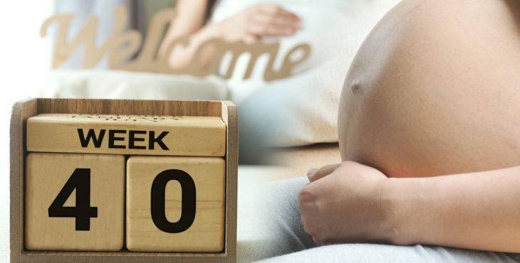 Mujer con 40 semanas de embarazo