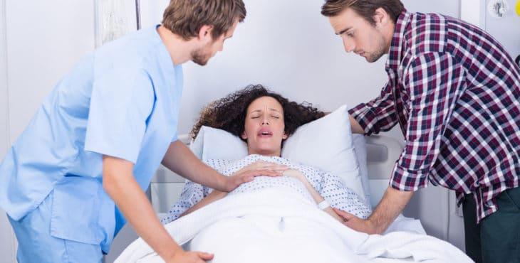 Mujer en fase de dilatación