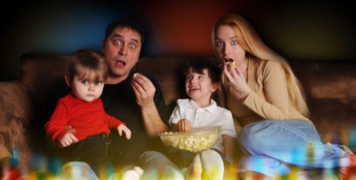 Noche de cine en familia