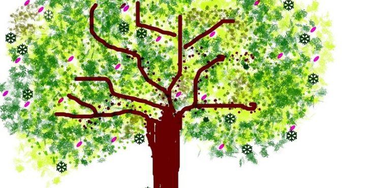 Diferentes partes del árbol
