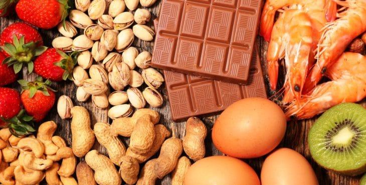 Conjunto de alimentos alergénicos