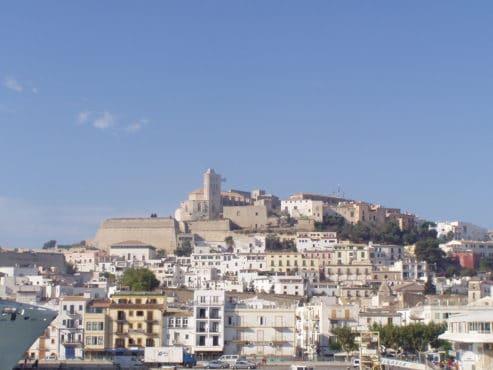 Vista de la isla de Ibiza