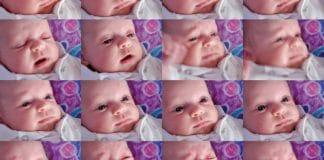 Bebé con diferentes emociones
