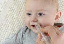 Bebé con secreción nasal
