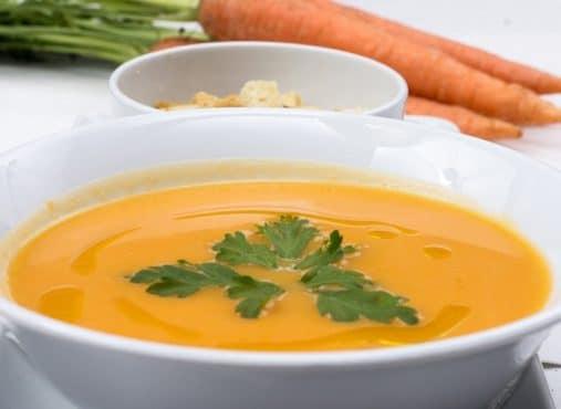 Zanahorias en forma de crema