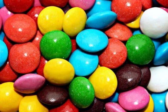 Bellos colores de las golosinas